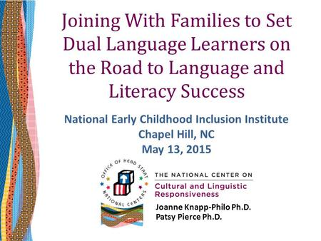 National Early Childhood Inclusion Institute