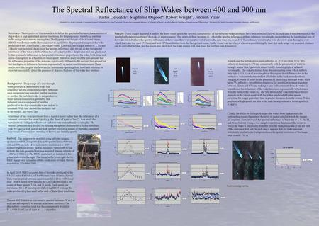 The Spectral Reflectance of Ship Wakes between 400 and 900 nm Summary- Summary- The objective of this research is to define the spectral reflectance characteristics.