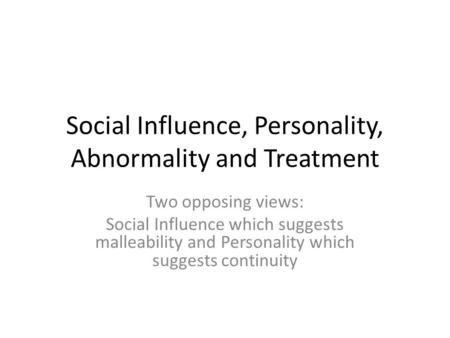personality and age on conformity Conformity is the act of matching attitudes, beliefs, and behaviors to group norms norms are implicit, specific rules, shared by a group of.