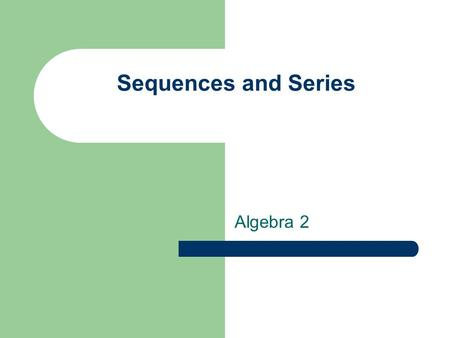 Sequences and Series Algebra 2. Vocabulary Sequence Series Term Domain Range Infinite Finite Summation (Sigma) Notation.