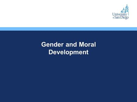 Gender and Moral Development. Narrow Morality Why do some people recognize a higher moral law, while others are simply content to obey rules without question?