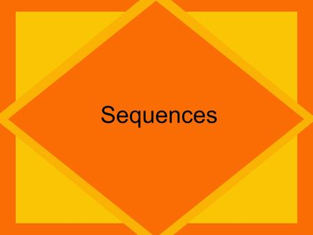 Sequences. Sequence There are 2 types of SequencesArithmetic: You add a common difference each time. Geometric: Geometric: You multiply a common ratio.
