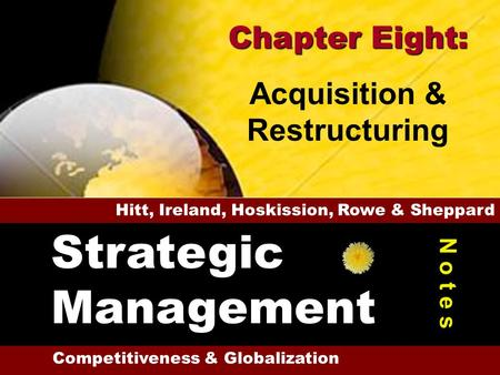4-1 1 16 M&A & Types of Acquisitions Reasons for Acquisitions Market & Scope Issues Development Concerns Problems with Acquisitions Administrative Difficulties.