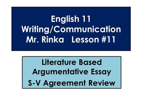 Informative essay steps