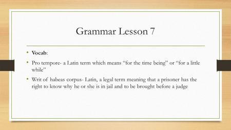 Pro tem latin