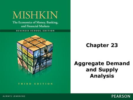 Chapter 23 Aggregate Demand and Supply Analysis. © 2013 Pearson Education, Inc. All rights reserved.23-2 Aggregate Demand Aggregate demand is made up.