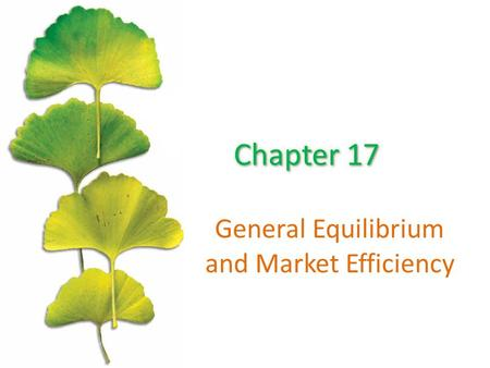 General Equilibrium and Market Efficiency. Chapter Outline ©2015 McGraw-Hill Education. All Rights Reserved. 2 A Simple Exchange Economy The Invisible.
