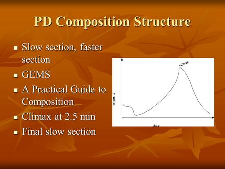PD Composition Structure Slow section, faster section Slow section, faster section GEMS GEMS A Practical Guide to Composition A Practical Guide to Composition.