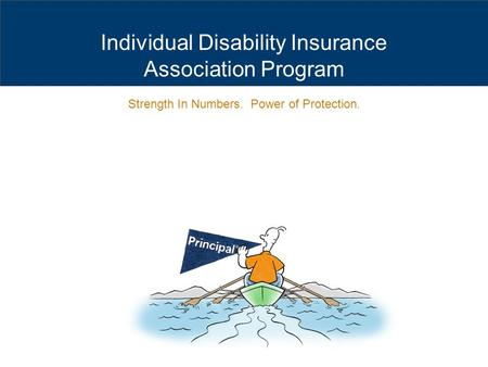 Individual Disability Insurance Association Program Strength In Numbers. Power of Protection.