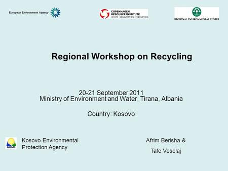 Regional Workshop on Recycling