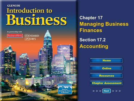 Chapter 17 Managing Business Finances Section 17.2 Accounting.