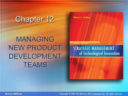 Managing new product development teams ppt download for Product development inc