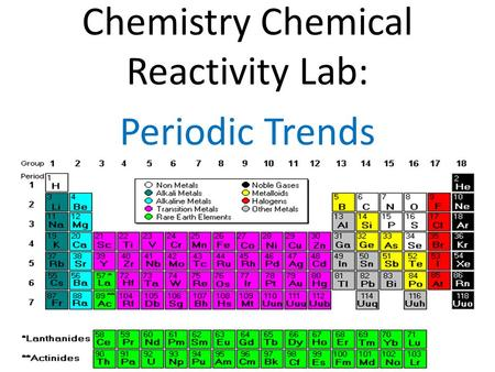 Going with the trends periodic trends ppt video online download chemistry chemical reactivity lab periodic trends urtaz Image collections