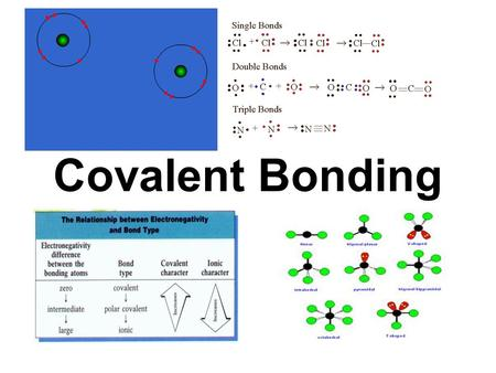 Covalent Bonding. 9.1 The Covalent Bond A covalent bond usually takes place between two non-metal elements Covalent bonds generally occur between elements.
