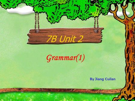 7B Unit 2 Grammar(1) By Jiang Cuilan Can you count … ?