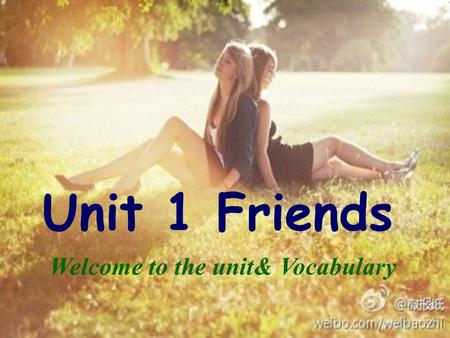 Unit 1 Friends Welcome to the unit& Vocabulary. Free talk How did your spend your summer holidays?