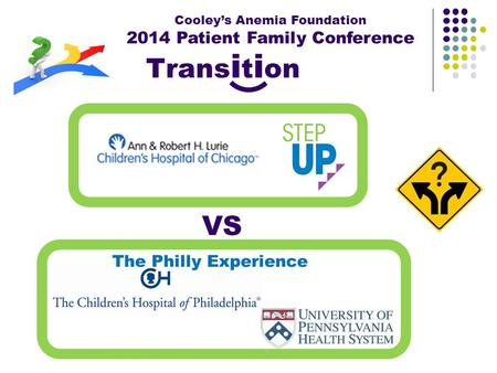 Cooley's Anemia Foundation 2014 Patient Family Conference VS The Philly Experience Trans i t i on.