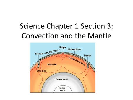 Science Chapter 1 Section 3: Convection and the Mantle.