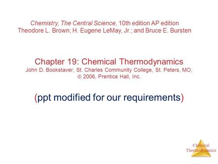 Chemistry, The Central Science, 10th edition AP edition