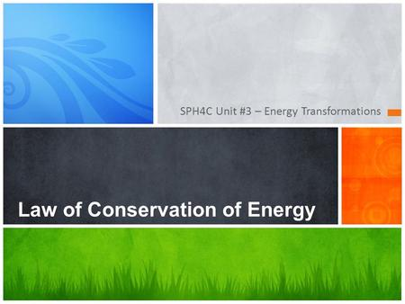 Essay on law of conservation of energy