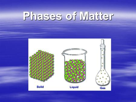 Phases of Matter.