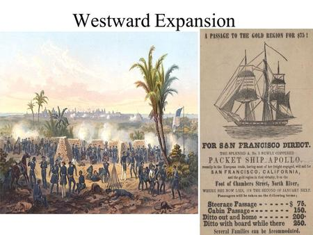 Westward Expansion. In 1836, Texas won their independence from Mexico in a war. The Texans were mostly Americans that had moved to the Mexican frontier.