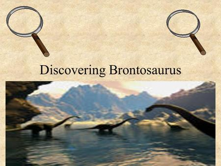 "Discovering Brontosaurus. Brontosaurus Also known as Apatosaurus ""Thunder lizard"", ""deceptive lizard"" 35 tons Herbivore = plant eater Small teeth to eat."