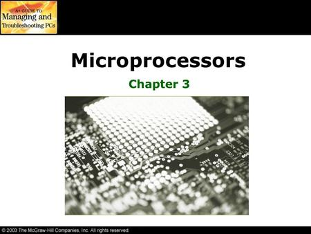Microprocessors Chapter 3.