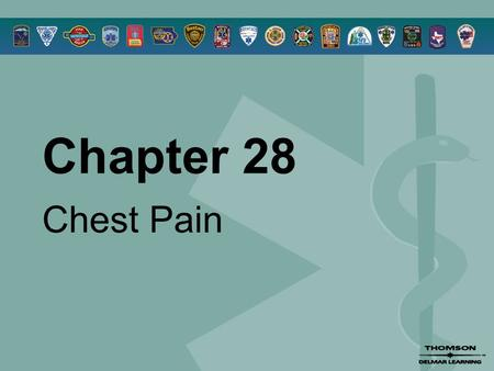 Chapter 28 Chest Pain. © 2005 by Thomson Delmar Learning,a part of The Thomson Corporation. All Rights Reserved 2 Overview  Anatomy and Physiology Review.