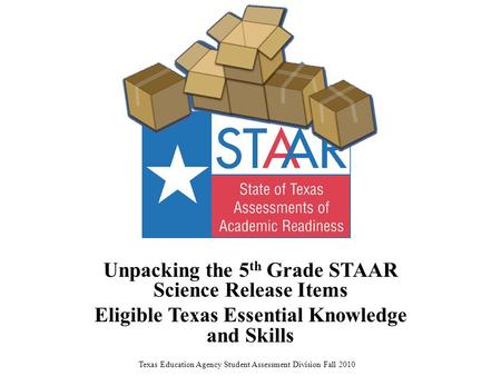 Unpacking the 5th Grade STAAR Science Release Items