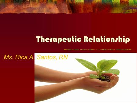 transference patterns therapeutic relationship between nurse