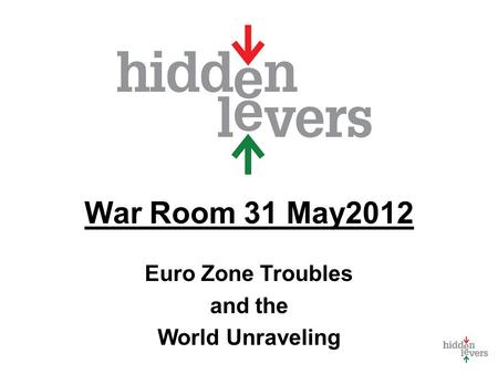 War Room 31 May2012 Euro Zone Troubles and the World Unraveling.