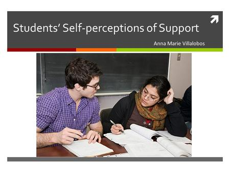  Students' Self-perceptions of Support Anna Marie Villalobos.