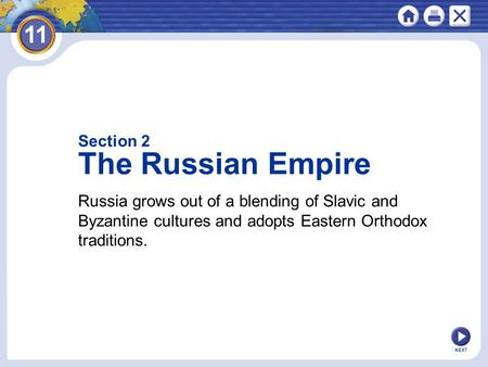 The Russian Empire Section 2
