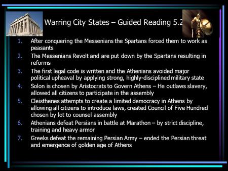 Warring City States – Guided Reading 5.2