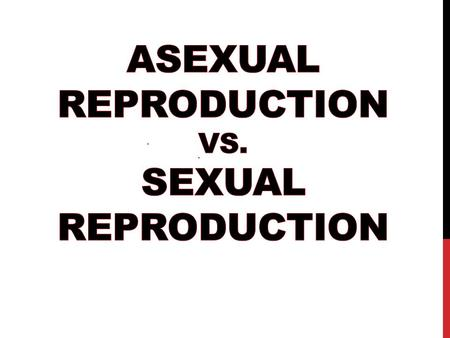 Asexual Reproduction vs. Sexual Reproduction