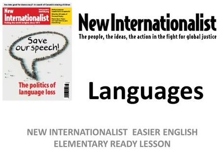 Languages NEW INTERNATIONALIST EASIER ENGLISH ELEMENTARY READY LESSON.