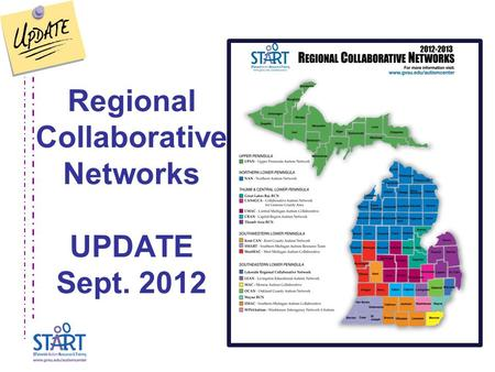 Regional Collaborative Networks UPDATE Sept. 2012.