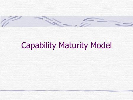 "Capability Maturity Model. Reflection Have you ever been a part of, or observed, a ""difficult"" software development effort? How did the difficulty surface?"