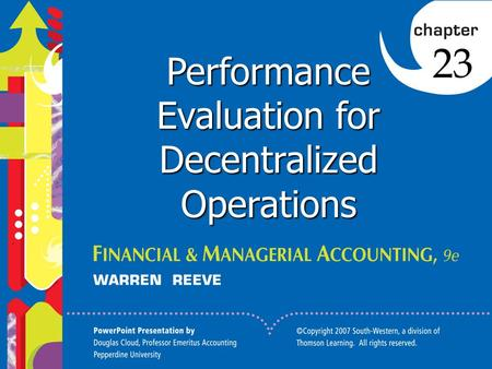 Click to edit Master title style 1 Performance Evaluation for Decentralized Operations 23.