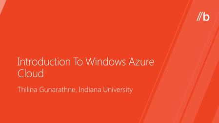 Introduction To Windows Azure Cloud