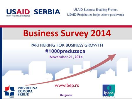 Business Survey 2014 Belgrade November 21, 2014 #1000preduzeca.