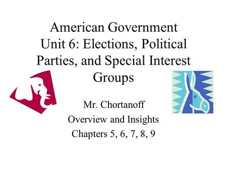 fundamental goal of interest groups and political parties Political parties and interest groups often run campaigns completely independently of candidates -in-government is made up of all elected and appointed officials who are affiliated with the party and who further the party's political goals.