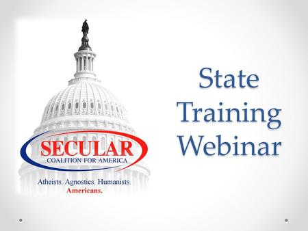 State Training Webinar. Agenda and Presenters Building State Coalitions Edwina Rogers, Executive Director State Website Management Loren Vandergrift,