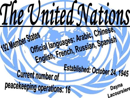 Official languages: Arabic, Chinese, English, French, Russian, Spanish
