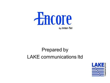 Prepared by LAKE communications ltd by Inter - Tel.