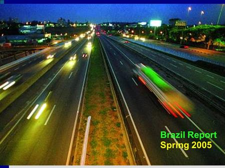 Brazil Report Spring 2005. Downtown SJC 500,000 inhabitants.