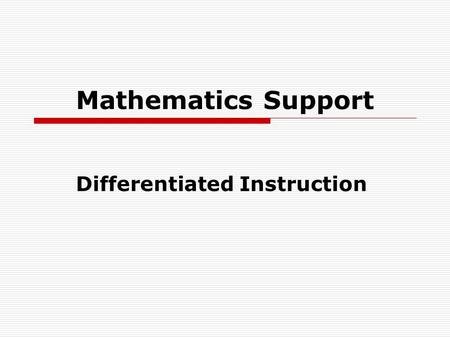 Tiered Lessons: One Way to Differentiate Mathematics ...
