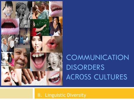 Communication Disorders Across Cultures