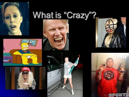 "What is ""Crazy""?. Normal or Not? Story: A man living in the Ozark Mountains has a vision in which God speaks to him. He begins preaching to his relatives."